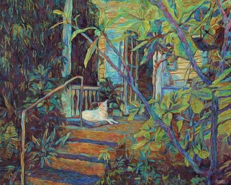 Dog-on-the-Porch-24x30-2013