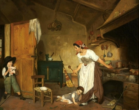 mother-with-children-playing-in-a-kitchen